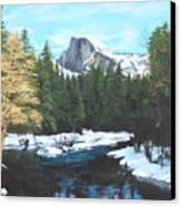 Half Dome Snow Canvas Print
