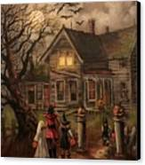 Halloween Dare Canvas Print by Tom Shropshire