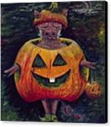 Halloween Hog Canvas Print