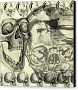 Halloween In Grunge Style Canvas Print