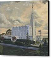 Hamilton New Zealand Temple Canvas Print by Jeff Brimley