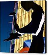 Hammering Man Canvas Print