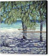 Hammock For Two Canvas Print by Danielle  Perry