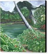 Hanalei Kanaka House Canvas Print