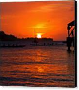 Hanalei Sunset Canvas Print by Mike  Dawson