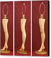 Hand Carved Wood Leg Lamp Canvas Print