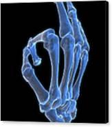 Hand Gesture Canvas Print by MedicalRF.com