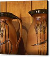 Handmade Pottery Pitchers Canvas Print by Linda Phelps