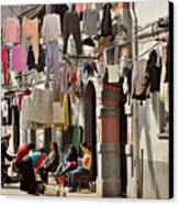 Hanging Out In The Streets Of Shanghai Canvas Print by Christine Till