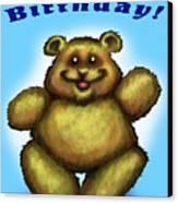 Happy Birthday Bear Canvas Print