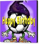Happy Birthday Soccer Wizard Canvas Print
