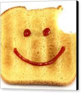 Happy Face And Bread Canvas Print by Blink Images