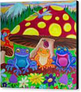 Happy Frog Meadows Canvas Print by Nick Gustafson