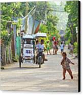 Happy Philippine Street Scene Canvas Print by James BO  Insogna