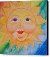 Happy Sun Canvas Print