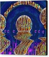 Happy Under The Rainbow Vintage Canvas Print