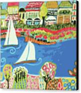 Harbor Of Gardens  Canvas Print by Karen Fields