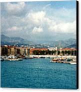 Harbor Scene In Nice France Canvas Print