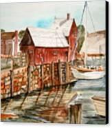 Harbor Scene New England Canvas Print