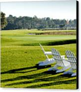 Harbor Town At Seapines 18th Hole Canvas Print by Dustin K Ryan