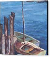 Harbor View So. Freeport Wharf Canvas Print
