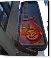 Hard Rock Cafe N Y C Canvas Print by Rob Hans