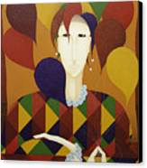 Harlequin With Balloons  2006 Canvas Print