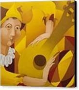 Harlequin With Lute  2003 Canvas Print