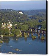Harpers Ferry West Virginia From Above Canvas Print by Brendan Reals