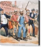Harrison Cartoon, 1888 Canvas Print by Granger