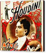 Harry Houdini - King Of Cards Canvas Print