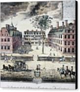 Harvard College, C1725 Canvas Print by Granger