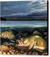 Harvest Moon Walleye 1 Canvas Print by JQ Licensing