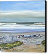 Haskells Beach Morning Canvas Print