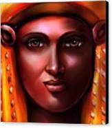 Hathor- The Goddess Canvas Print by Carmen Cordova