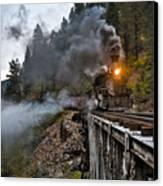 Hauling Though The Mountains Canvas Print by Patrick  Flynn