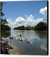 Haulover Canal On The Space Coast Of Florida Canvas Print