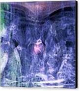 Haunted Caves Canvas Print by Linda Sannuti