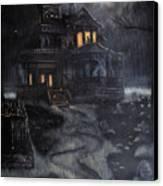 Haunted House Canvas Print by Kayla Ascencio