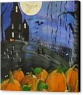 Haunted Night Canvas Print by Sylvia Pimental