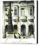 Havana Facade Canvas Print by Bob Salo