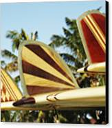 Hawaiian Design Surfboards Canvas Print by Vince Cavataio - Printscapes
