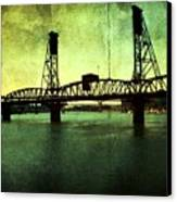 Hawthorne Bridge Canvas Print by Cathie Tyler