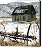 Hay Rake At Butch Cassidy Canvas Print
