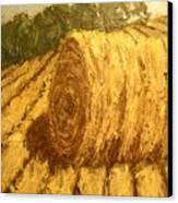 Haybale Hill Canvas Print by Jaylynn Johnson