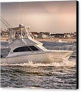 Hdr Fishing Boat Ocean Beach Beachtown Boadwalk Scenic Photography Photos Pictures Boating Sea Pics Canvas Print by Pictures HDR