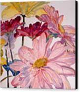 He Loves Me - Watercolor Canvas Print