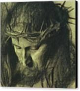 Head Of Christ Canvas Print by Franz Von Stuck