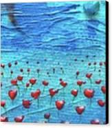 Heart Poppies Canvas Print
