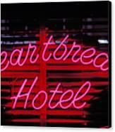 Heartbreak Hotel Neon Canvas Print by Garry Gay